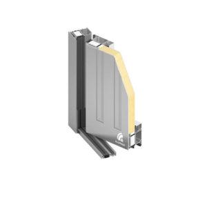 drzwi panelowe z aluminium